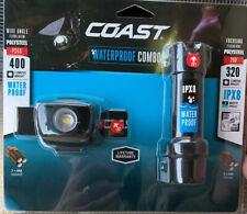 COAST Waterproof Combo  Polysteel 320 LED Flashlight & 400 LED Headlamp