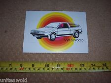 VW Scirocco KARMANN Ghia Original Promotional Sticker Decal RARE Collectable