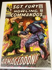 SGT. FURY AND HIS HOWLING COMMANDOS #29 F+ SEE PICS Incredible COVER! Best VALUE