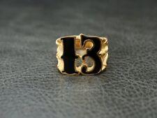 Gold Black 13 Thirteen Outlaw Ring for Harley Motor 1% MC Rider Biker TR187
