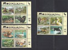 UN 2000 Endangered Species, MFNH MIB, Upper Right - NY, Geneva, Vienna