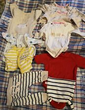 Mothercare baby bundle, up to 1m, 9 items, unisex, sleepsuits, vests, leggings