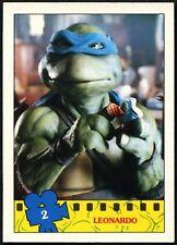 Leonardo #2 Teenage Mutant Ninja Turtles The Movie 1990 Topps Trade Card (C1324)