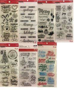 =-ecollection Christmas Clear Stamp LOT to pick from
