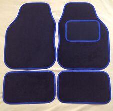 CAR FLOOR MATS FOR RENAULT CAPTUR CLIO KADJAR TWIZY ZOE- BLACK WITH BLUE TRIM