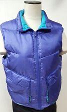 Haute Route Size Medium Purple Vest Down Filled Zipper Front Flap Pockets Warm