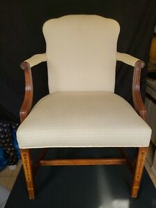 Rare South wood Arm Chair Chippendale Lolling Chair New England Historic...