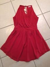 BLUSH Red Semi Formal LINED DRESS M JUNIORS Ladies GRADUATION Mom's Day SOCIAL