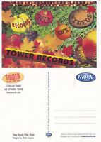 TOWER RECORDS CHRISTMAS BAUBLES UNUSED ADVERTISING COLOUR POSTCARD