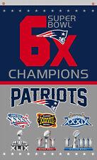 New England Patriots Champions 6x Vertical flag  90x150cm 3x5ft best Team banner