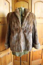 Vintage Genuine Brown Fur Coat Ferris Bros Saginaw Michigan Squirrel Fox Mink