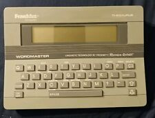 Franklin computer - Wordmaster Wm-1100 - Thesaurus, Speller, Games
