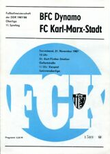 Programmheft, Juniorenoberliga, BFC Dynamo - FC Karl-Marx-Stadt 1987 /76