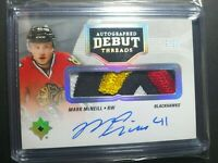 2016-17 Ultimate Collection Mark McNeill Debut Threads RC Patch Autograph 39/99