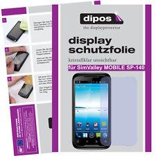 1x SimValley Mobile SP-140 Schutzfolie klar Displayschutzfolie Folie unsichtbar