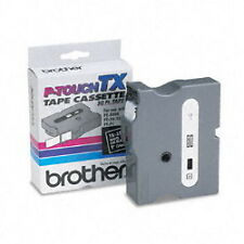 "Brother TX3551 1"" (24mm) White On Black p-touch tape for XL35, XL-35 printers"