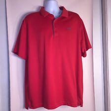 UnderArmour Heatgear Loose Men Red Short Sleeve Athletic Golf Polo Shirt 2Xl