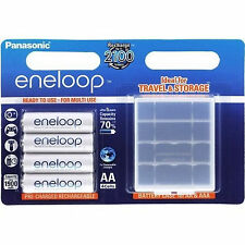 Panasonic Eneloop AA batería 4er blister con akkubox hr06 1,2v NiMH BK -3 mccec 4be