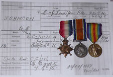 1914-15 STAR TRIO TO CITY OF LONDON YEOMANRY (ROUGH RIDERS) Discharged 1917 SWB