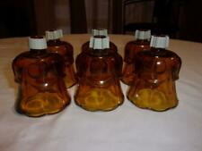 Set Of 6 Home Interior Homco Amber Tulip Votive Cups With Grommet'S Nice