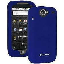 AMZER Silicone Soft Skin Jelly Case Cover For Google Nexus One PB99100 - Blue