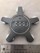 2007-13 Audi A3 A4 A5 A6 A7 A8 Q5 R8 Grey Center Hubcap Hub Cap 4F0 601 165