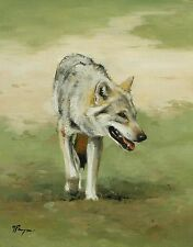Original Oil painting - wildlife art - portrait - wolf - by j payne