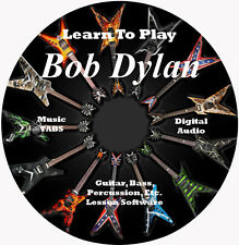 Bob Dylan Guitar TABS Lesson CD 58 Songs + Backing Tracks + BONUS!