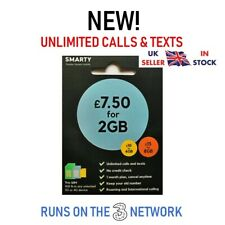 Smarty SIM Cards Unlimited Minutes and Texts 1gb Data for No Contract