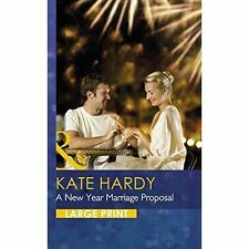 Kate Hardy, A New Year Marriage Proposal (Largeprint Romance), Very Good Book