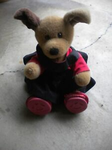 Build a Bear Sitting Brown Dog & Outfit With shoes