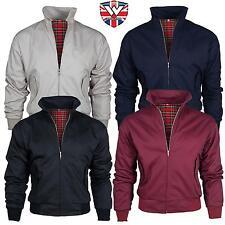Warrior Mens Harrington Jacket Coat Mod Tartan Check S, M, L, XL, XXL, XXXL