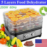 5 Stackable Trays Electric Food Dehydrator Machine Home Fruit Dryer Beef Meat;