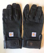 New Mens Large Carhartt Fire Retardant Fr High Dexterity Black Work Gloves A654