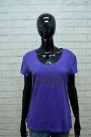 REEBOK Donna Maglia Taglia L Maglietta Polo Camicia Manica Corta Shirt Women's