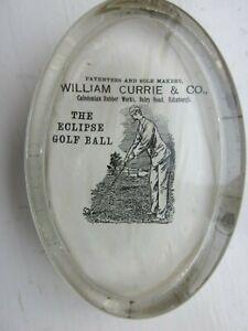 """EXCELLENT """"WILLIAM CURRIE EDINBURGH"""" PAPER WEIGHT- ECLIPSE GOLF BALL"""