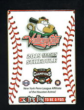 Tri-City Valley Cats--2019 Pocket Schedule--CSEA--Astros Affiliate