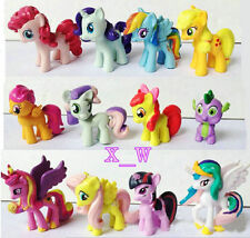 12PCS/Set Colourful My Little Pony Cake Toppers Doll PVC Action Figures Toy 5CM