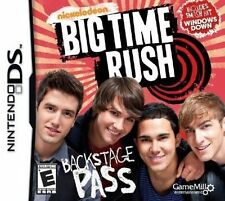 Nickelodeon Big Time Rush Backstage Pass Nintendo DS Video Game New! FREE SHIP