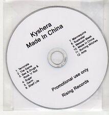 (EH925) Kyshera, Made In China - 2012 DJ CD