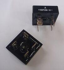 BRIDGE RECTIFIER KBPC 50-10 RATED 50 AMP 1000V