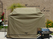 "Outdoor Patio Yard Garden BBQ  Barbecue Grill Cover 75""L.Taupe.Outdoor Furniture"