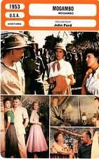 FICHE CINEMA : MOGAMBO - Gable,Gardner,Kelly,Ford 1953