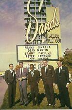"Las Vegas NV ""Sands Hotel"" Sinatra * Dean Martin * Sammy Davis Jr * Postcard"