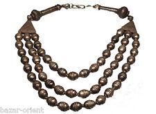3- reihige nomaden Collier Silberperlen Kette turkmen silver beads necklac N-18