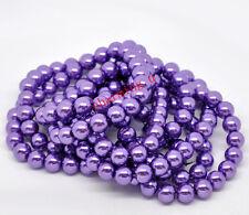 25pz  perline in vetro  cerato 10mm colore viola