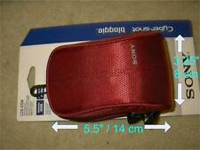 new Sony Red Bloggie CyberShot soft carrying Case LCS-CSW LCS-CSW/R carry camera