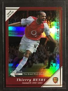 2016-17 Panini WCCF Club Legends Thierry Henry Scarce Arsenal refractor card
