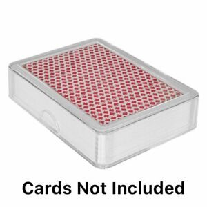 Clear Playing Card Deck Protector Coin Storage Box Poker ID Badge Case Holder
