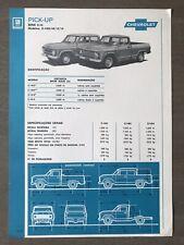 c1976 Chevrolet Série C-10 Pick-up original Brazilian sales brochure